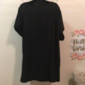 Lane Bryant Tops - Lane Bryant black wrap side tie blouse size 22/24